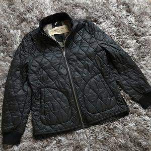 Burberry Quilted Jacket Men's Size XL Black plaid